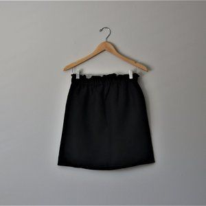 H&M Divided Black Ruffled Mini Skirt